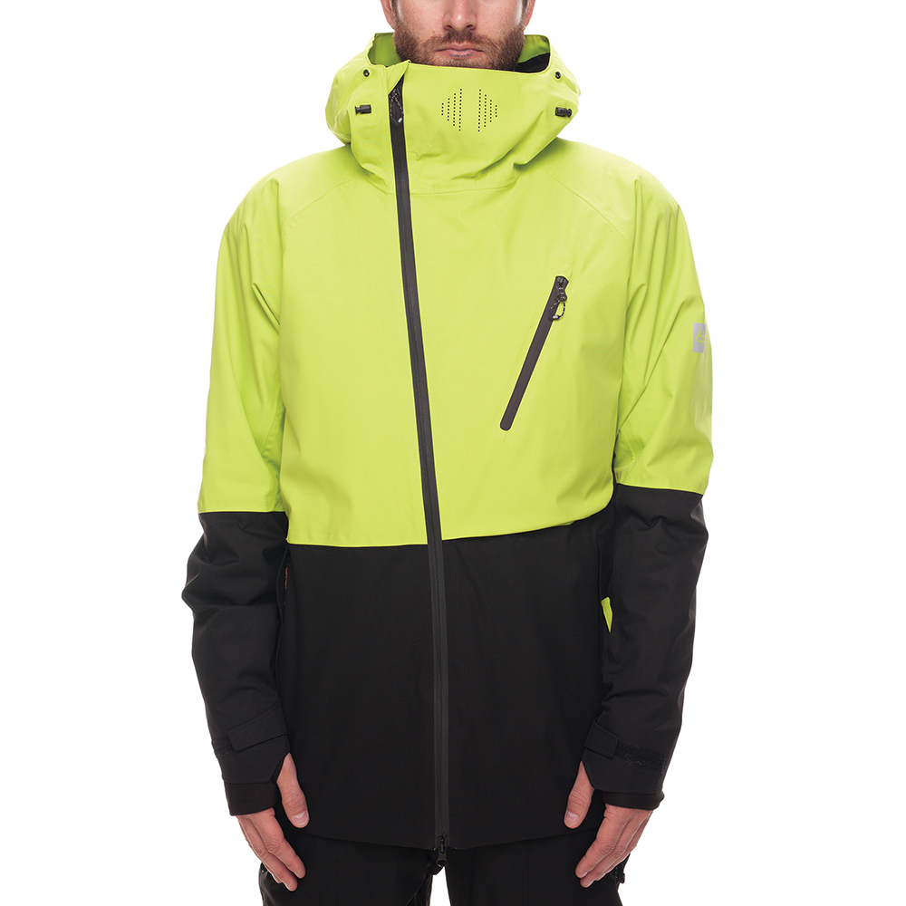 Куртка 686 GLCR Hydra Thermagraph JACKET (Lime Twill Clrblk) 0