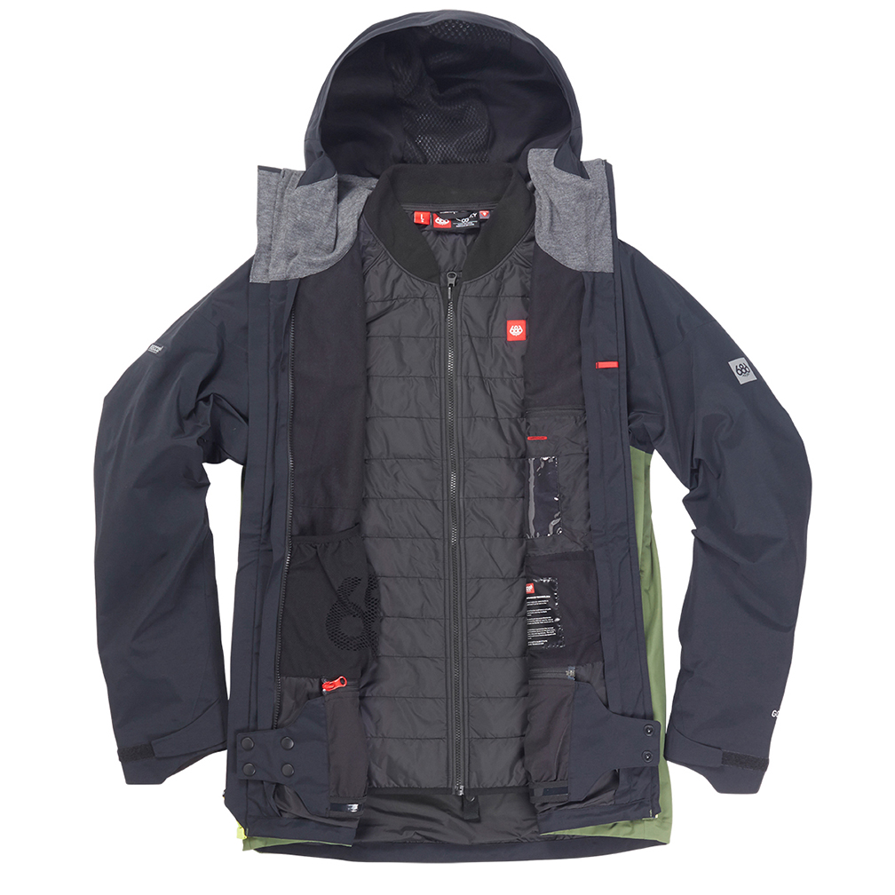 Куртка 686 GLCR GORE-TEX SMARTY 3-in-1 Weapon Jacket (Fatigue Colorblock) 6