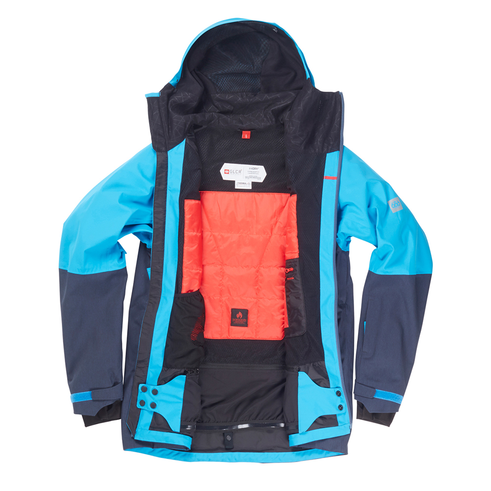 Куртка 686 GLCR Hydra Thermagraph JACKET (Blue Bird Twill Clrblk) 4