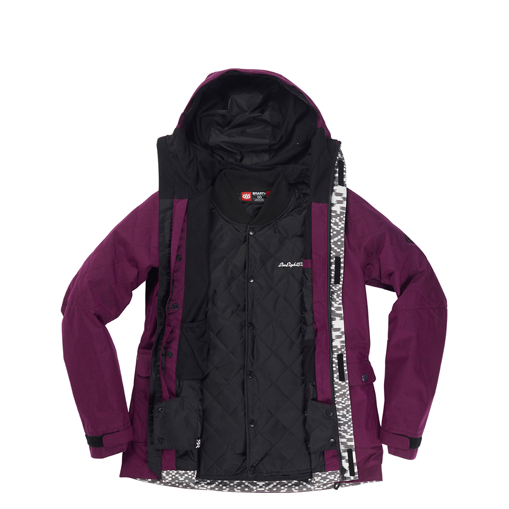 Куртка 686 Smarty 3-in-1 Aries Jacket (Fuchsia Melange) 4