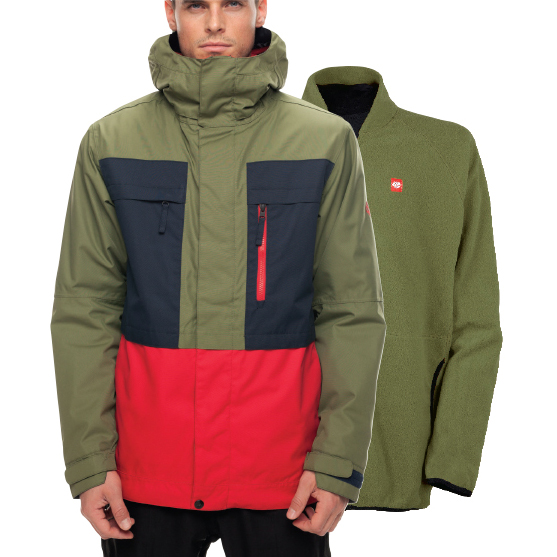 Куртка SMARTY 3-in-1 Form Jacket (Fatigue Colorblock) 4