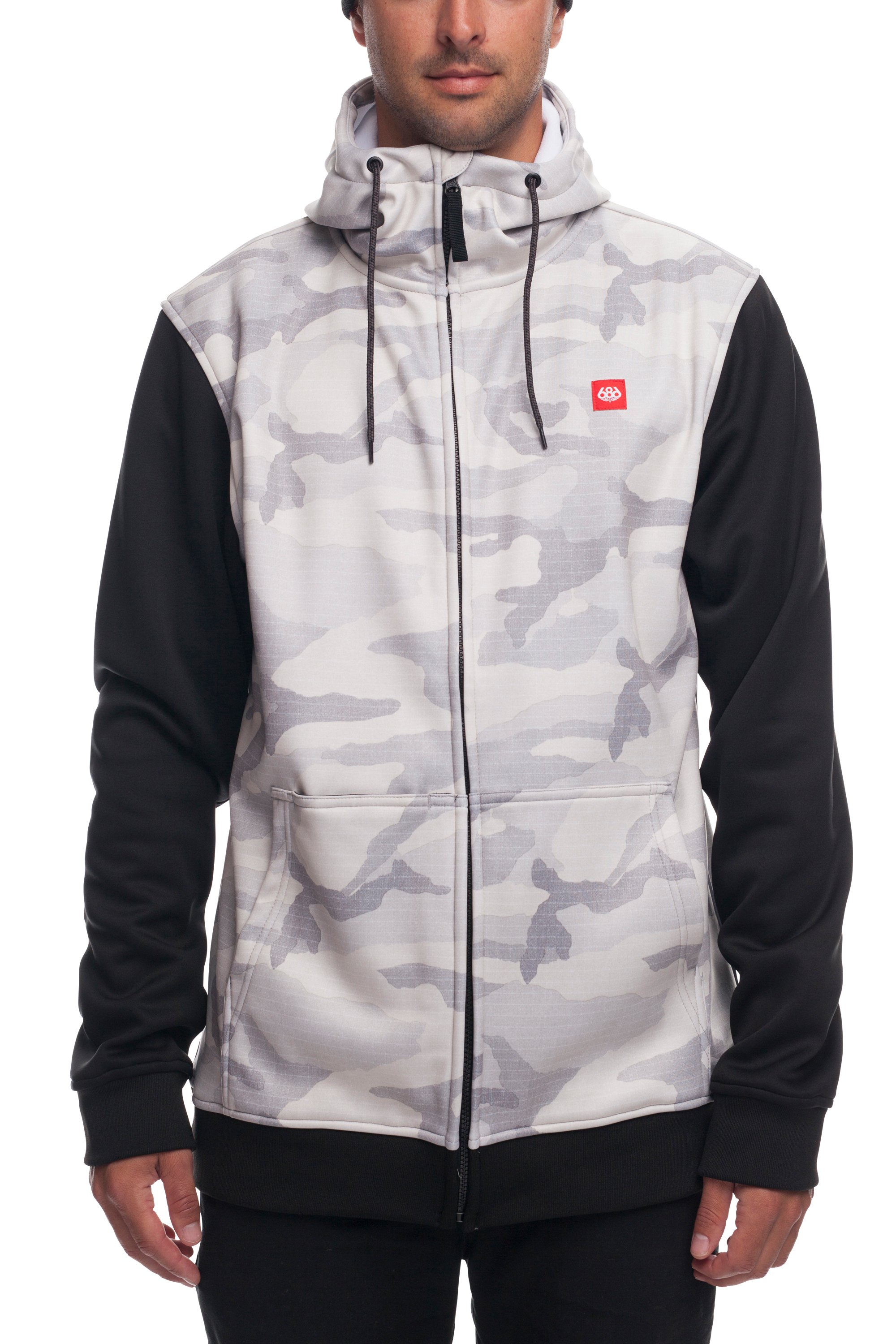 Толстовка 686 Icon Bonded Fleece Zip Hoody (White Camo)´18-19 1
