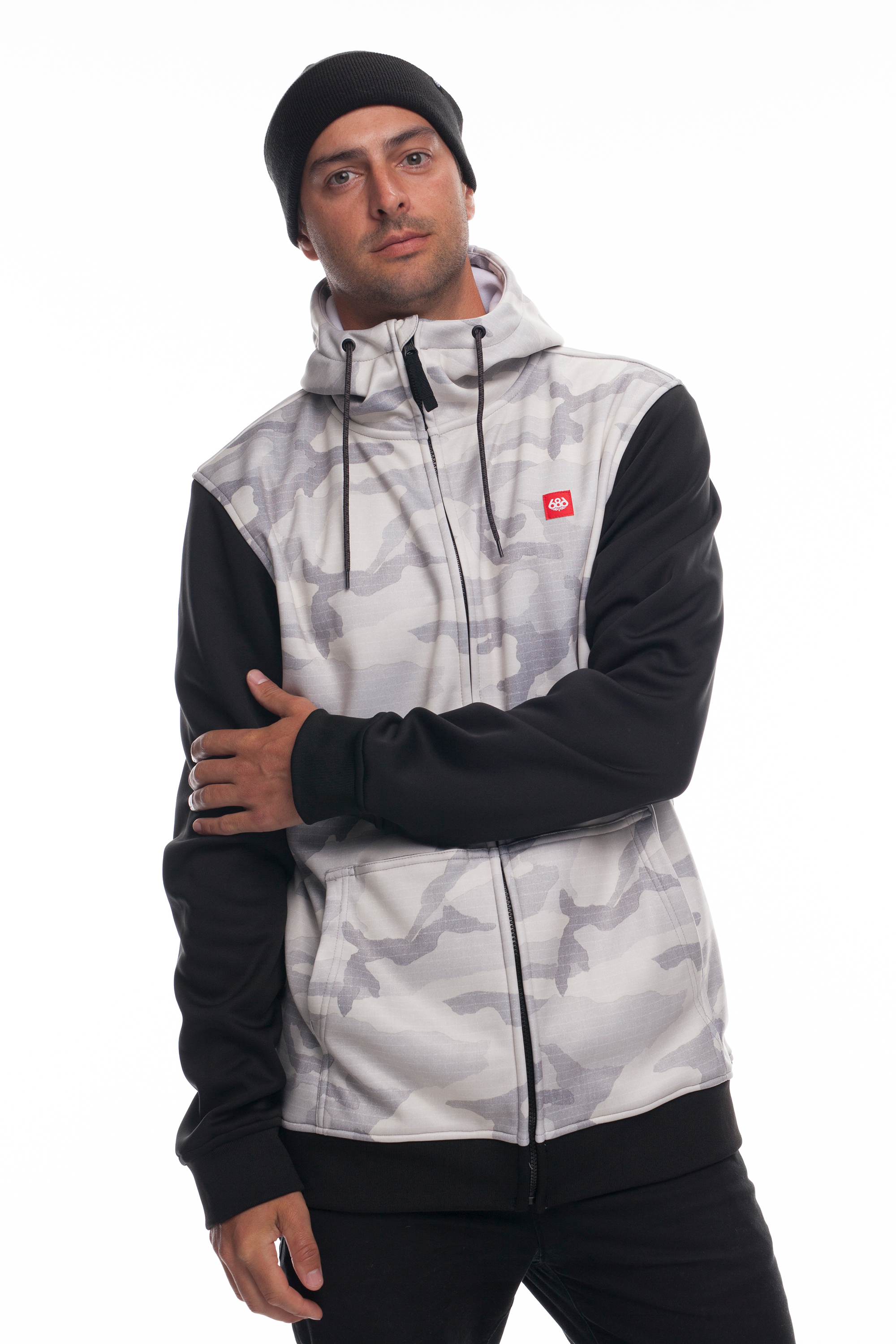 Толстовка 686 Icon Bonded Fleece Zip Hoody (White Camo)´18-19 0