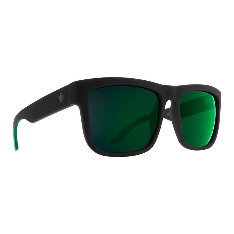 Солнцезащитные очки SPY Discord Soft Matte Black/Green Fade - Happy Gray Green W/Green Flash 0