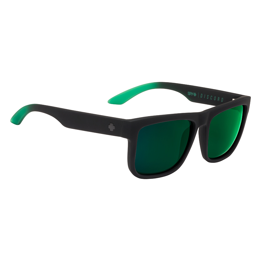 Солнцезащитные очки SPY Discord Soft Matte Black/Green Fade - Happy Gray Green W/Green Flash 2